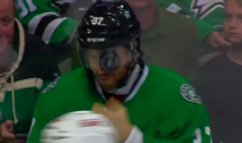 Patrik Nemeth Gets Puck Wedged Between His Visor and Face (Video)