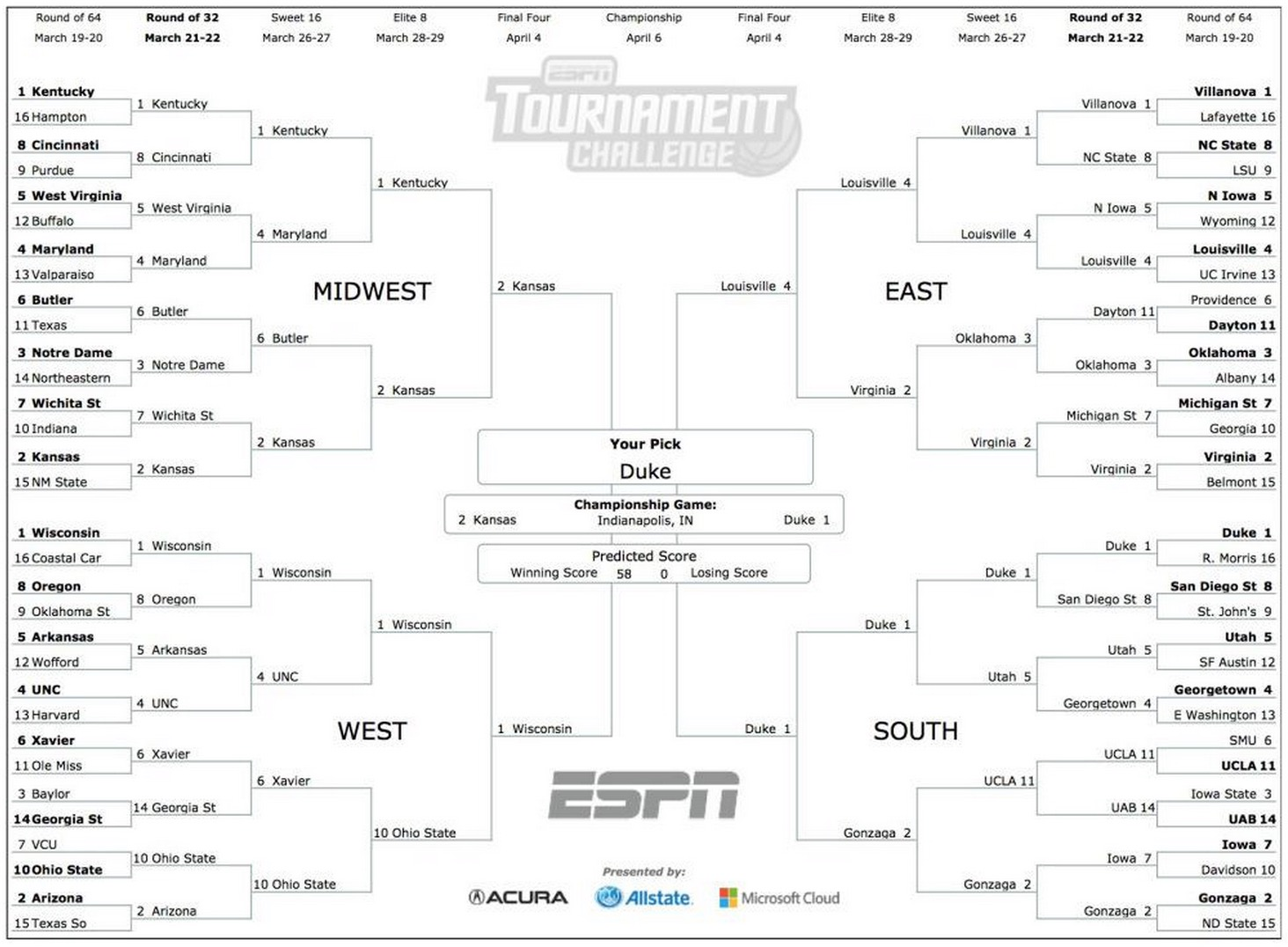 There S Only One Perfect March Madness Bracket Remaining