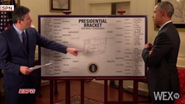 President Obama 2015 NCAA Tournament Bracket