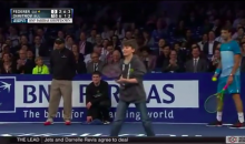 Roger Federer Gets Burned by a 12 Year-Old's Lob Shot (Video)