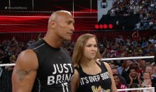 Ronda Rousey and The Rock Team Up at WrestleMania 31 (Video)