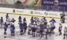 Russian Hockey Brawl: 8-Year-Olds Battle in Handshake Line (Video)