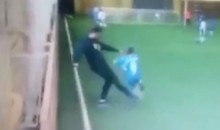 Russian Soccer Coach Flat-Out Kicks a Kid Off His Feet During a Game (Video)