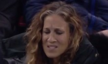 Sarah Jessica Parker Gives Tom Hanks Stink Eye During Rangers Game at MSG (Video)
