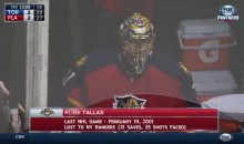 Florida Panthers Goalie Coach Robb Tallas Dresses, Almost Plays vs. Leafs (Video)