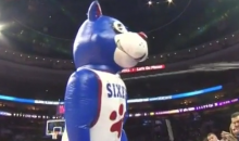 This 76ers Mascot Is Shooting…Something…at the Fans (Video)