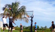 Tom Brady and Michael Jordan Play Pickup Ball in the Bahamas (Video)