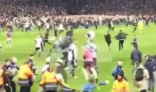 Two West Brom Players Trip and Hit Field-Rushing Aston Villa Fans (Video)