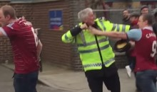 West Ham and Sunderland Fans Brawl on the Street (Video)