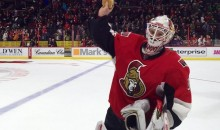 Senators Fan Throws Burger on the Ice as Tribute to Senators Goalie Andrew Hammond (Video)