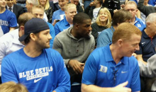 Duke Fan Tony Romo Sits with Cameron Crazies to Watch Blue Devils Beat Demon Deacons (Pics)