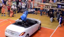 Guy Tries to Dunk Over Car at Mexican All-Star Game, Fails Miserably (Video)