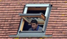 Banned English Soccer Coach Tom Killick Watches Game from Attic Window of Nearby House