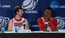 "Nigel Hayes on Press Conference Stenographer: ""God She's Beautiful"" (Video)"