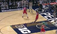 Ohio State Forward Sam Thompson Scores Two of the Luckiest Points You'll Ever See (Video)