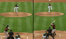 Oakland A's Switch-Pitcher Pat Venditte Records Outs with Both Arms in Cactus League Opener (Video)