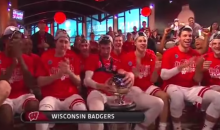 Wisconsin Player Does Inappropriate Things to the Big Ten Championship Trophy (Video)