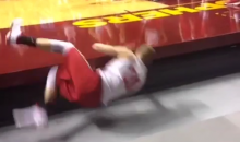 Wisconsin Practices Diving for Loose Balls Ahead of Game on Minnesota's Weird Elevated Floor (Video)