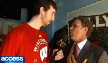 Wisconsin Star Frank Kaminsky Interviews Will Ferrell for Access Hollywood (Video)