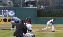 Danny Salazar Beaned Alcides Escobar In The Head With a 96 MPH Fastball (Video)