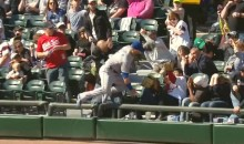Alex Gordon Trucks Fan, Makes Unbelievable Diving Catch In The Stands (Video)