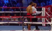 Boxer's Cell Phone Falls Out Of His Pocket During Fight (Video)