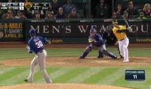 Brett Lawrie Struck Out 4 Time on Just 12 Pitches (Video)