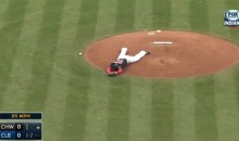 Carlos Carrasco Takes Line Drive To The Face (Video)