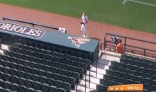 Chris Davis Has Some Fun With Empty Stands at Camden Yards (Video)