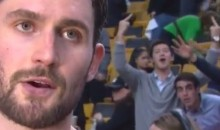 Classy Celtics Fans Flip Off Camera During K-Love Interview (Video)