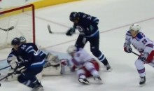 Dustin Byfuglien Delivers Nasty Crosscheck to J. T. Miller's Neck (Video)