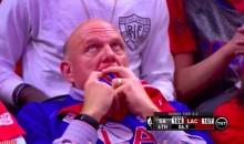Enjoy Steve Ballmer Reaction Shots During the Clippers Loss (Video)