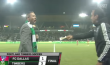 FC Dallas Coach Offers Up a Used Tissue to Opposing Coach (Video)