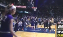 Female NCAA B-Ball Player Outshoots Male in 3 Point Contest (Video)