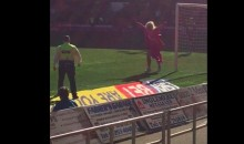 Field Invader in Pink Dress Scores Goal, Gets Removed (Video)
