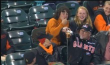 Giants Fan Gets a Foul Ball Tossed into his Beer (Video)