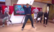 Gronk Dances, Plays Giant Flip-Cup on SportsNation (Video)