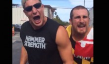 Gronk and Mojo Rawley Shoot WWE-Style Promo (Video)
