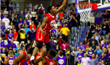 High School Player Throws Down a Dunk Over Four Guys (Video)