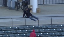 Indians Fan Loses Phone, Beer While Chasing Foul Ball (Video)