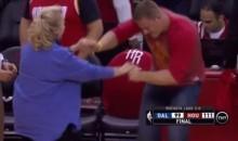 JJ Watt Dances With Rockets Fan After Game 2 Win (Video)