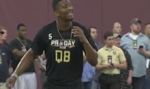 Jameis Winston Leads Receiver into Cameraman at Pro Day (Video)