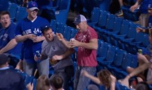 Jays Fan Gets a Beer Shower While Trying To Catch Foul Ball (Video)