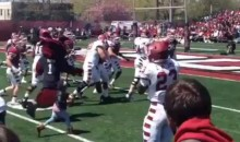Leah Still Scores Touchdown to Open Temple Spring Game (Photos and Video)