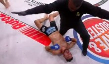 MMA Fighter Has To Convince Ref Opponent Is Out Cold (Video)