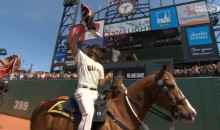 Madison Bumgarner Rides Horse During Giants Home Opener (Video)