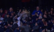 Mariners Fan Catches Ball With Popcorn Bucket (Video)