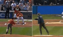 Compare the Obama and Bush First PItches in this GIF
