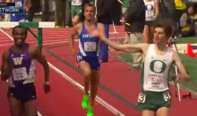 Oregon Steeplechase Runner Celebrates Too Early, Loses (Video)