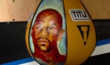 Pacquiao's Punching Bag Has Floyd Mayweather's Face on It (Pic)